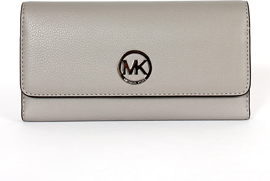 a3d25657c29c Michael Kors Fulton Large Trifold Wallet Ash Grey  Handbags  Amazon.com