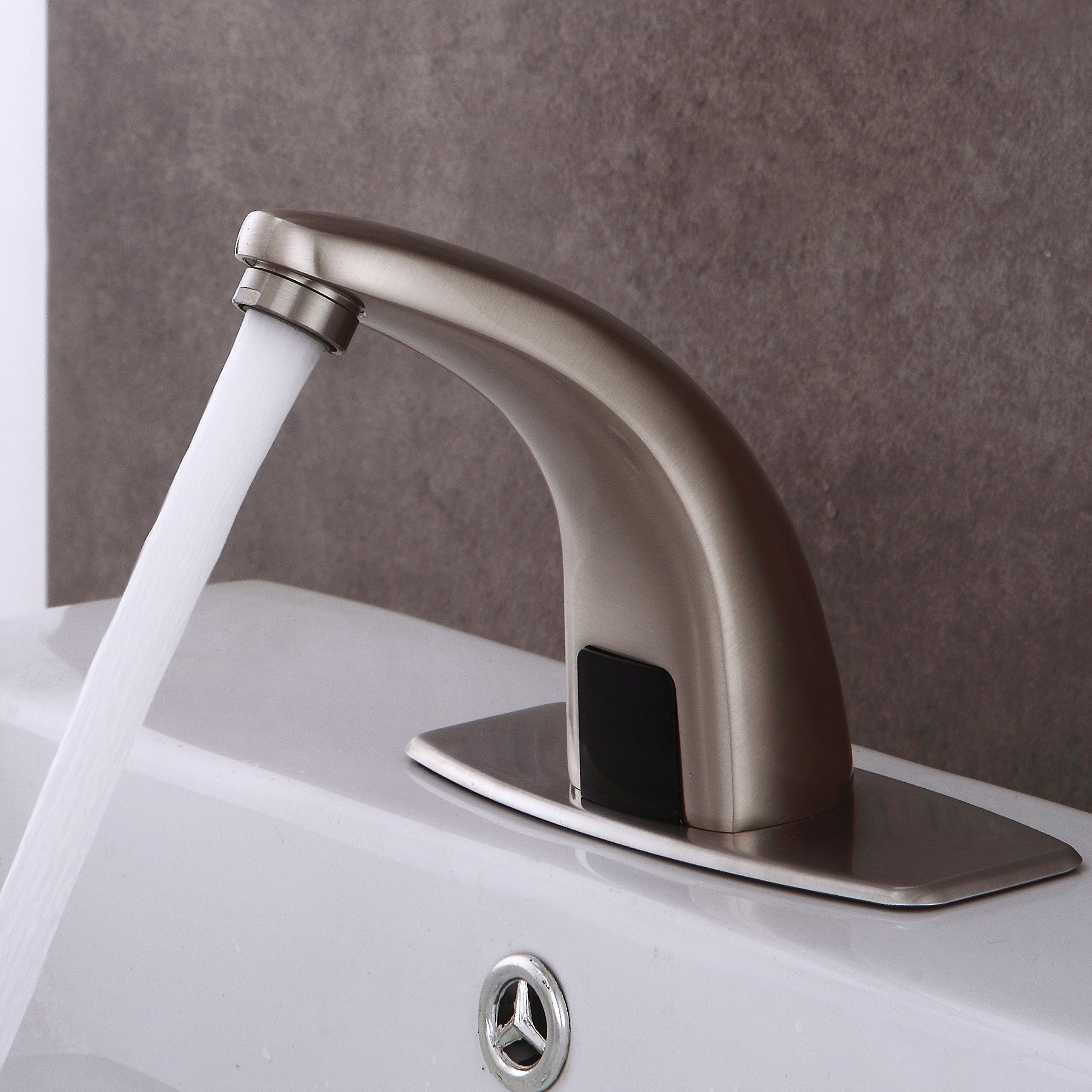 Fyeer Automatic Sensor Touchless Bathroom Sink Faucet with Hole ...