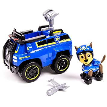 Amazon Com Paw Patrol Chase S Spy Cruiser Vehicle And Figure Toys