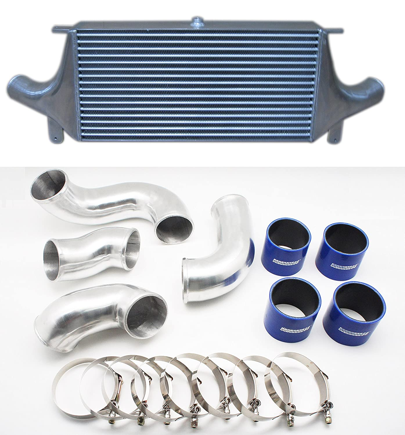Autobahn88 Universal Front-Mount Intercooler FMIC, GT-Type, Core Size 600x300x100mm (24x12x4'), Inlet Outlet 76mm (3') Core Size 600x300x100mm (24x12x4) Inlet Outlet 76mm (3)