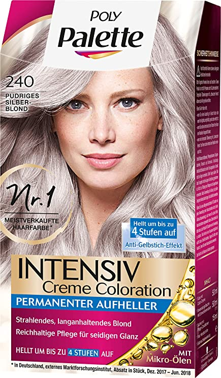 Poly Palette Intensiv Creme Coloration 240 Pudriges rubio ...