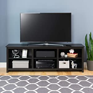 """Prepac Sonoma 72 Inch TV Stand, 72"""", Black"""