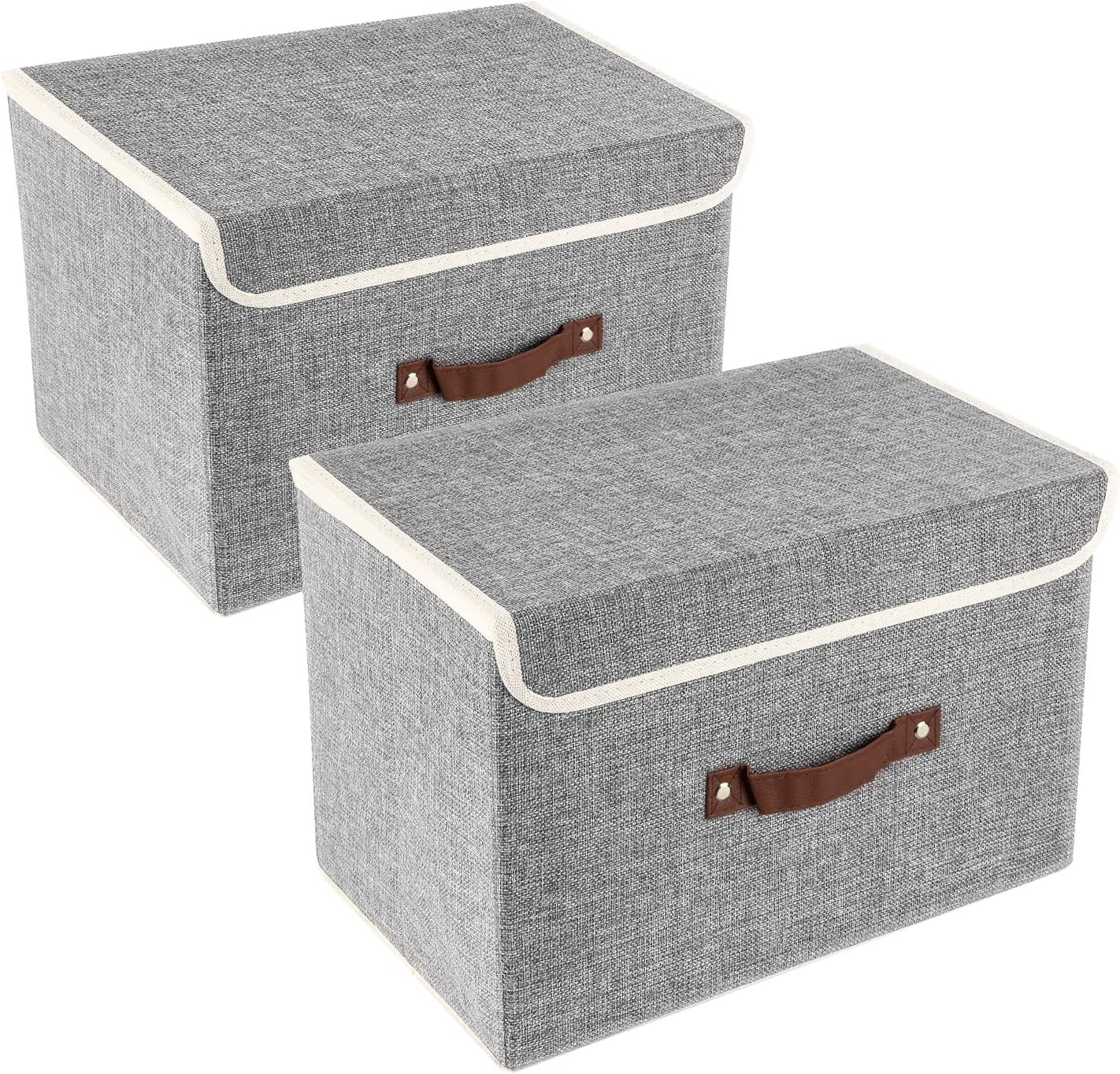 Meyliving Foldable Storage Box X-Large for Toys Car Trunks Sports 2-pack