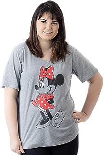 f8ce334715fb8 Amazon.com  Disney Women s Plus Size Minnie Mouse V Neck T Shirt ...