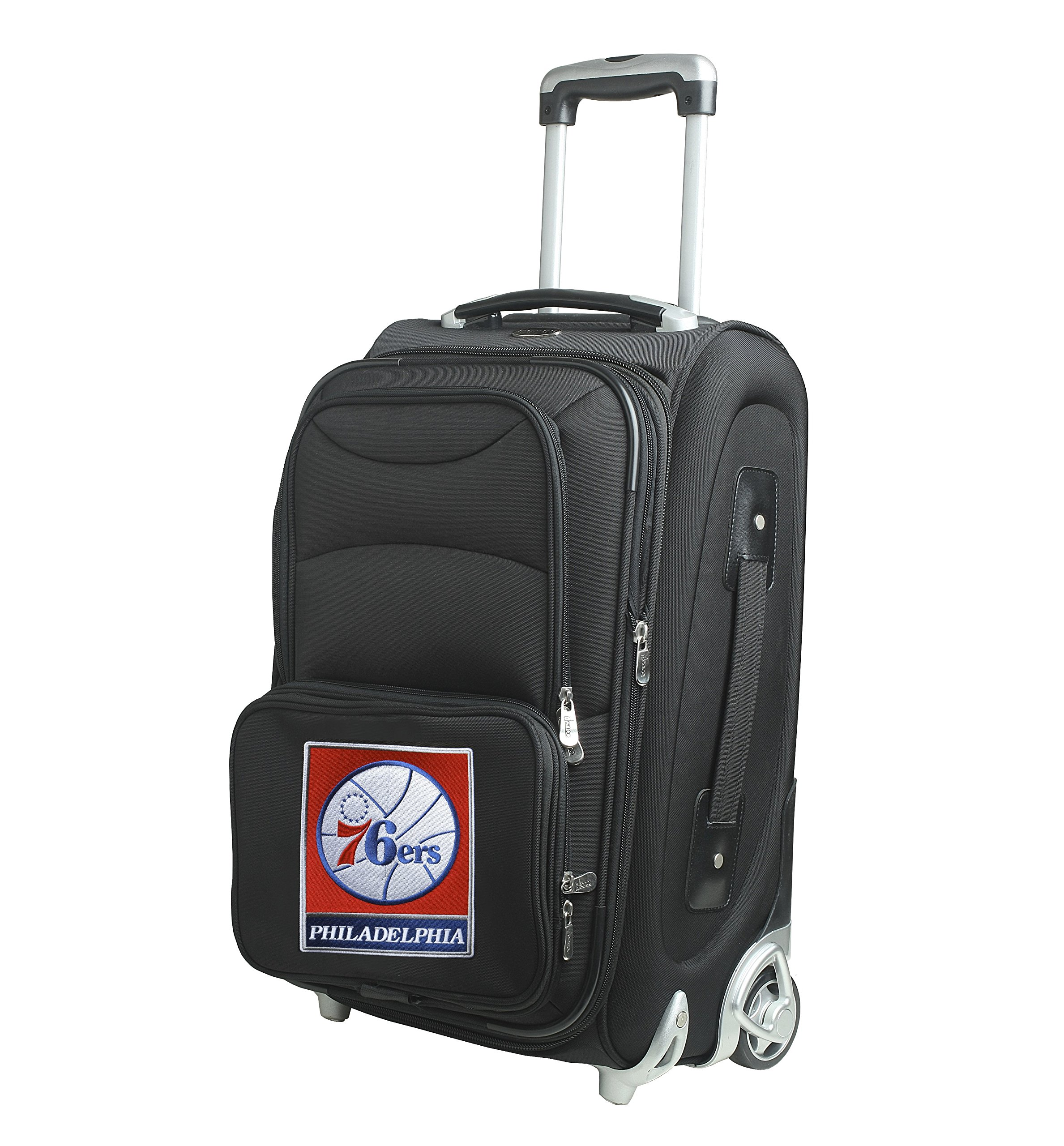 NBA Philadelphia 76ers In-Line Skate Wheel Carry-On Luggage, 21-Inch, Black