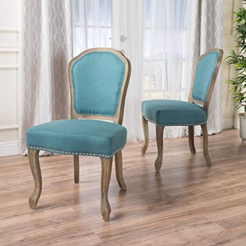 Christopher Knight Home Godfrey Fabric Dining Chairs