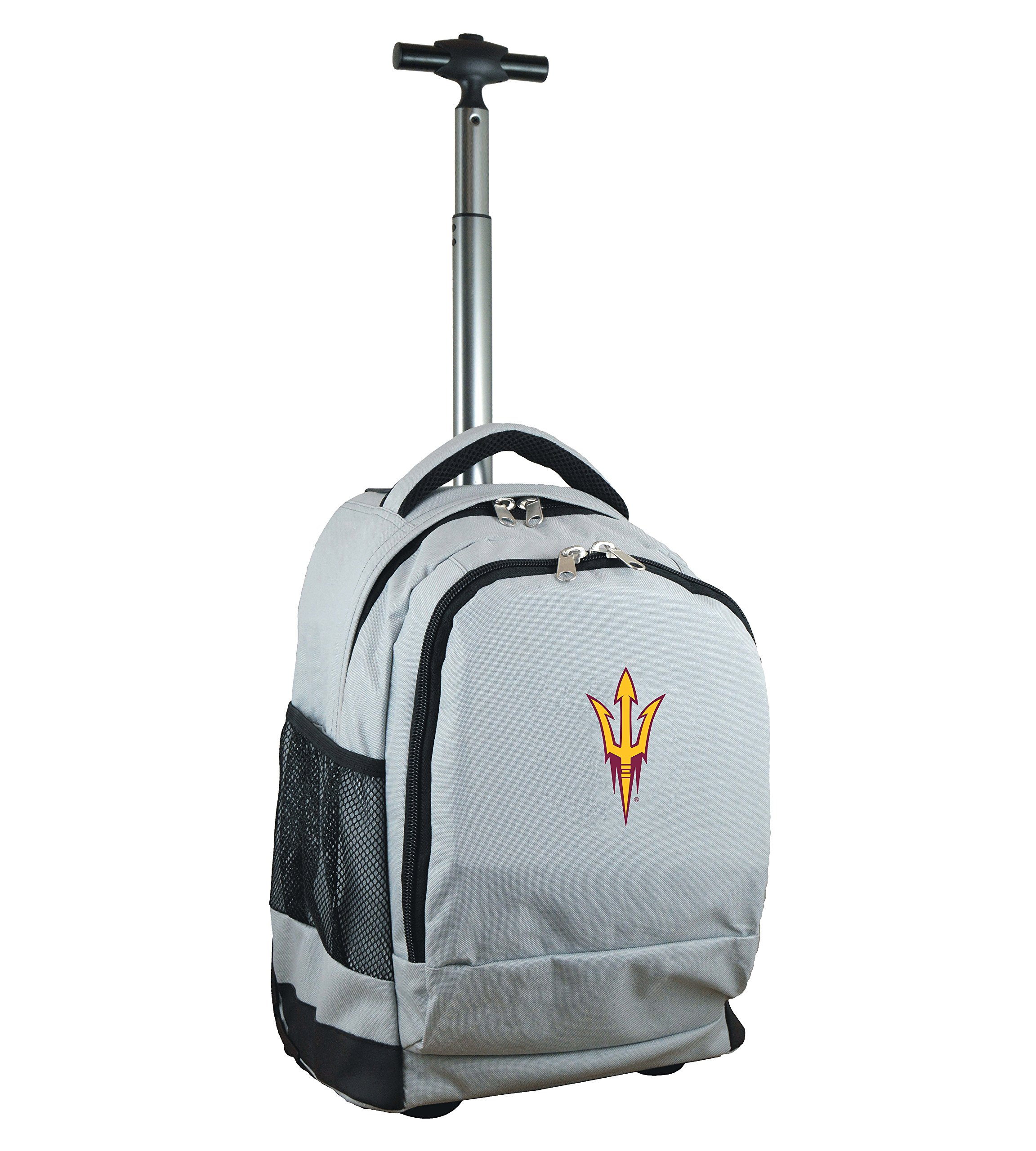 NCAA Arizona State Sun Devils Expedition Wheeled Backpack, 19-inches, Grey