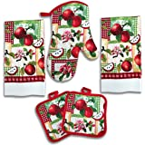 Apple Kitchen Decor 5 Piece Linen Set