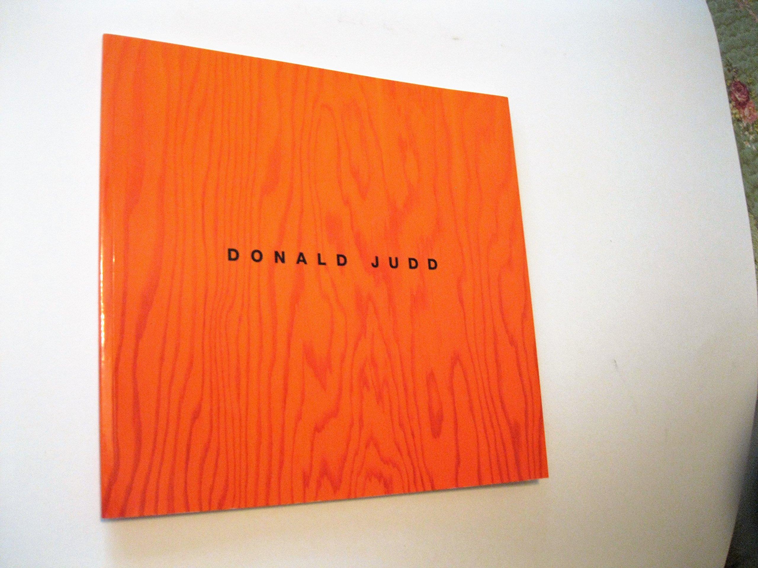 donald judd sculpture catalogue