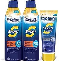 Coppertone SPORT SPF 50 Sunscreen Spray + SPORT Face SPF 50 Mineral Based Sunscreen...