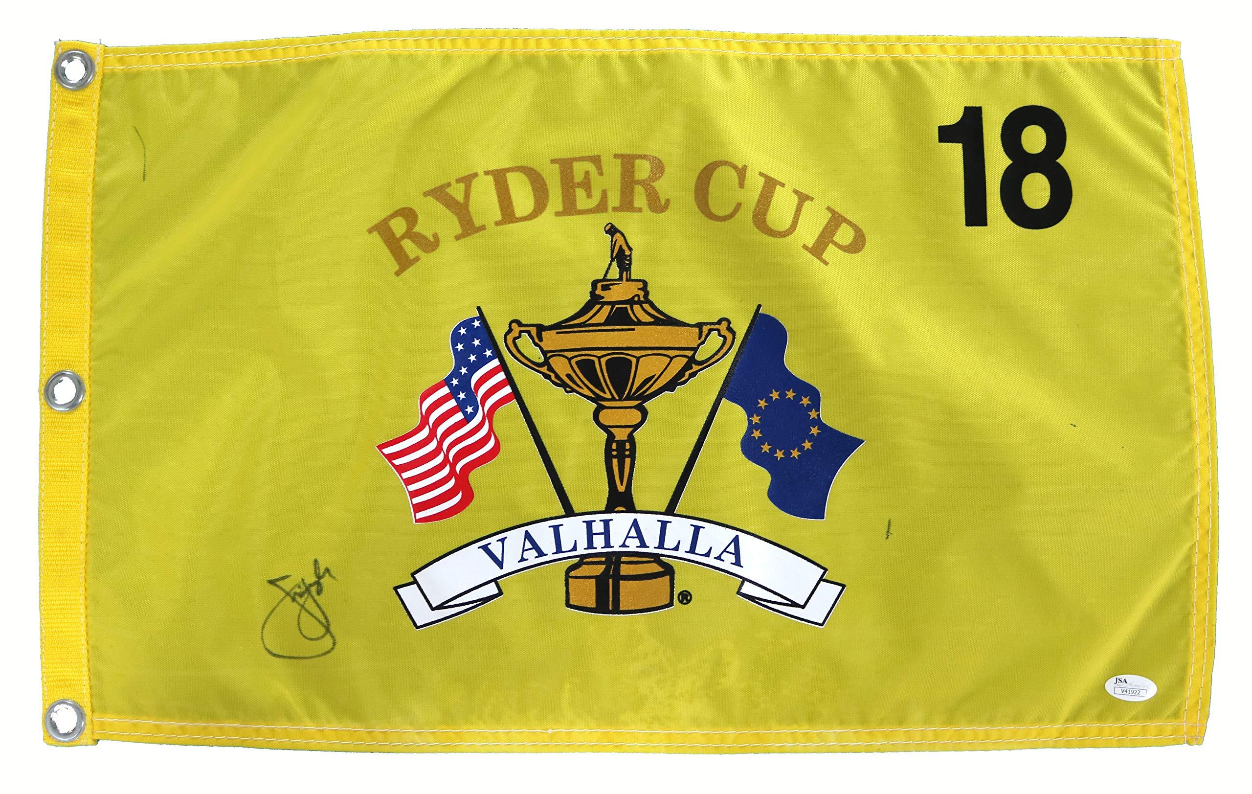 Jim Furyk Signed Autographed Ryder Cup Valhalla Golf Pin Flag JSA COA