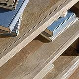 Sauder 3-Shelf Bookcase, Lintel Oak finish
