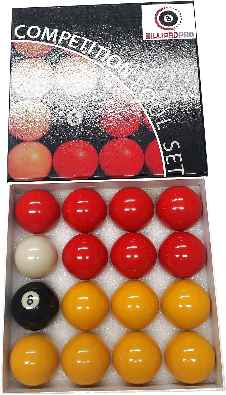 Billar Pro Unisex 2 Inch League Bolas de Billar (Rojo y Amarillo, Rojo/Amarillo: Amazon.es: Deportes y aire libre