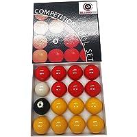 De Billard Pro Unisexe 5,1cm Ligue Boules de Billard (Rouges et Jaunes, Rouge/Jaune
