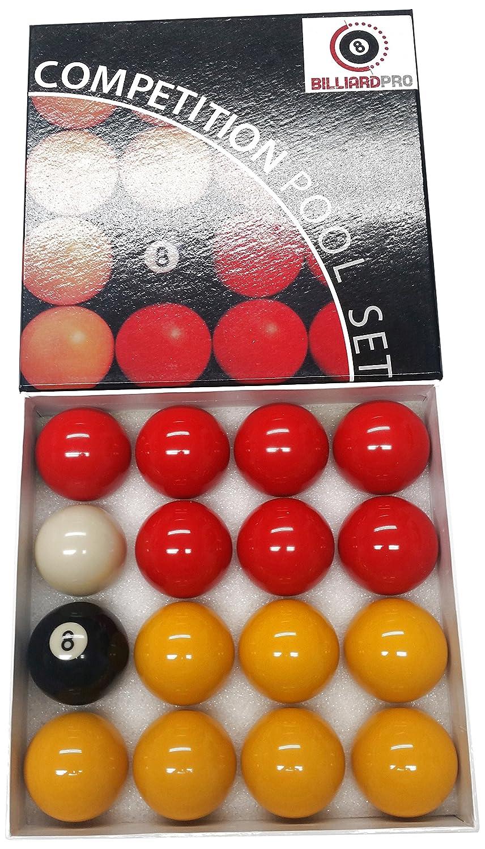 De Billard Pro Unisexe 5,1cm Ligue Boules de Billard (Rouges et Jaunes, Rouge/Jaune Cartasport PBL2