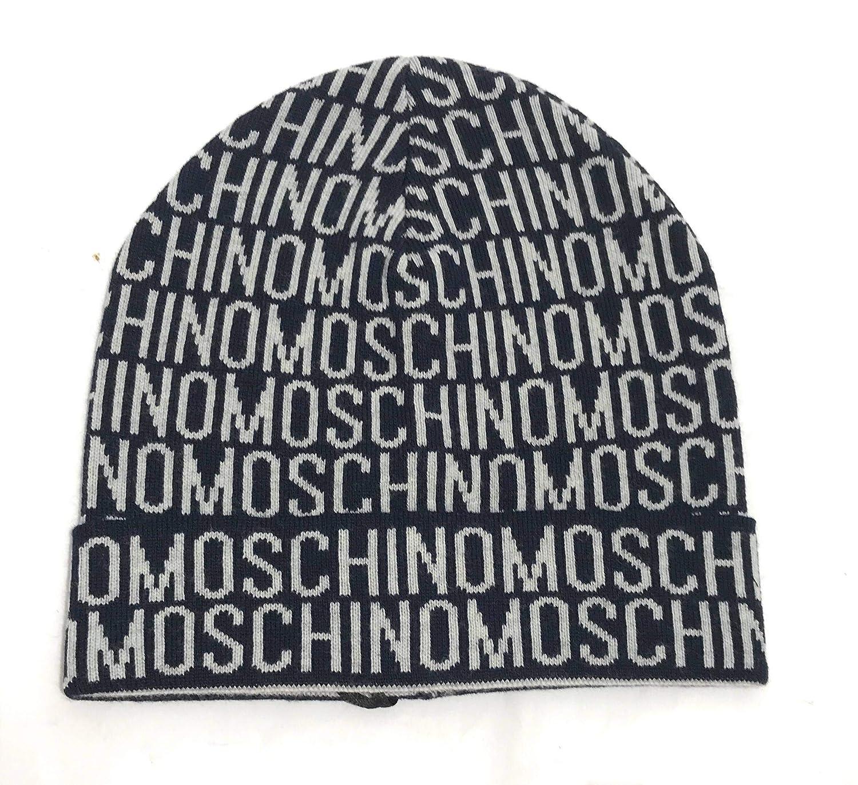1f52139a870 Moschino Men s Beanie - Blue - One size  Amazon.co.uk  Clothing