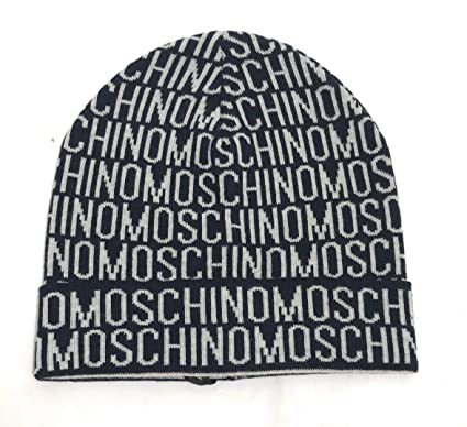 Moschino Men s Beanie - Blue - One size  Amazon.co.uk  Clothing bd8869b9ba6