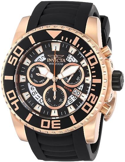 Invicta 14675 - Reloj de cuarzo para hombres, color negro