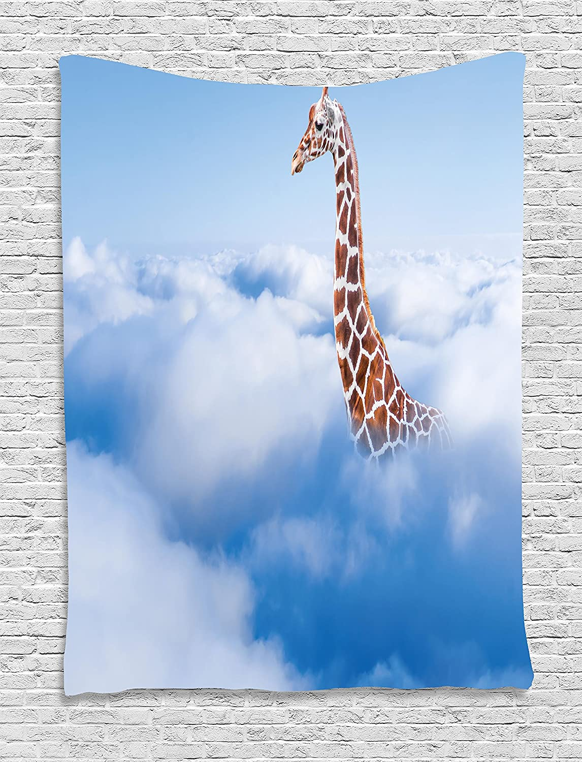 Amazoncom Ambesonne Tapestry Wall Hanging Aerial Scenery