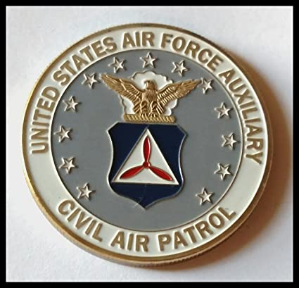 5f373857fe3 Amazon.com   USAF Air Force Auxiliary Civil Air Patrol Colorized Challenge  Art Coin   Everything Else