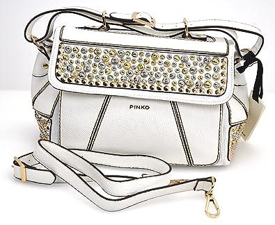 40b03747a9bbe PINKO WOMAN SHOULDER BAGS WHITE CODE 1P206H Z1QE UNICA - ONE SIZE BIANCO -  WHITE