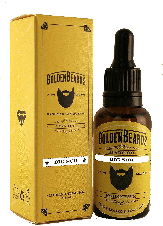Golden Beards Kobenhavn BALM GROOMING OIL Aceite de Argan y Jojoba Hidratante Orgánico para barba y piel Big Sur 1 Unidad (1 x 30ml) 30 ml