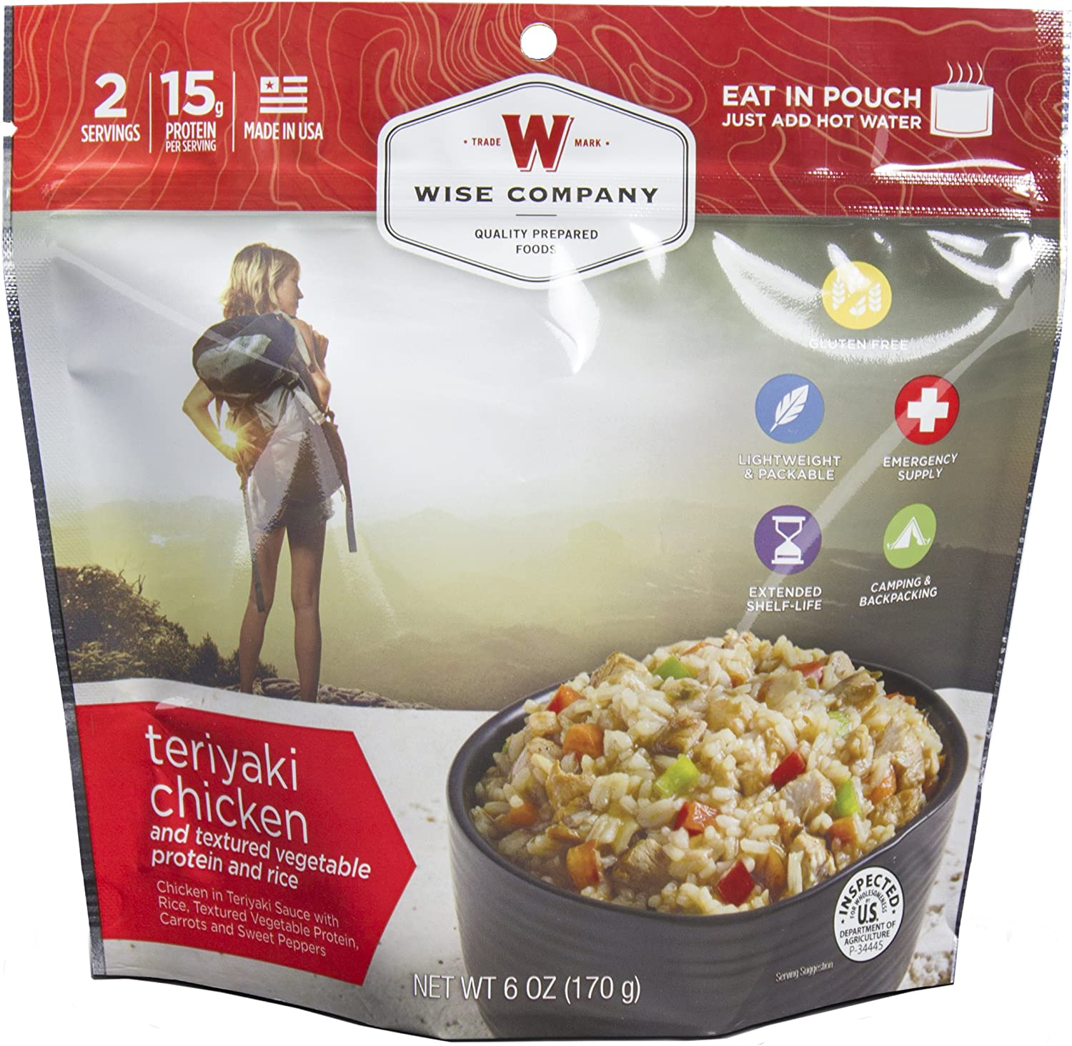 Wise Foods Entree Dish Teriyaki Chicken and Rice (2 Servings)