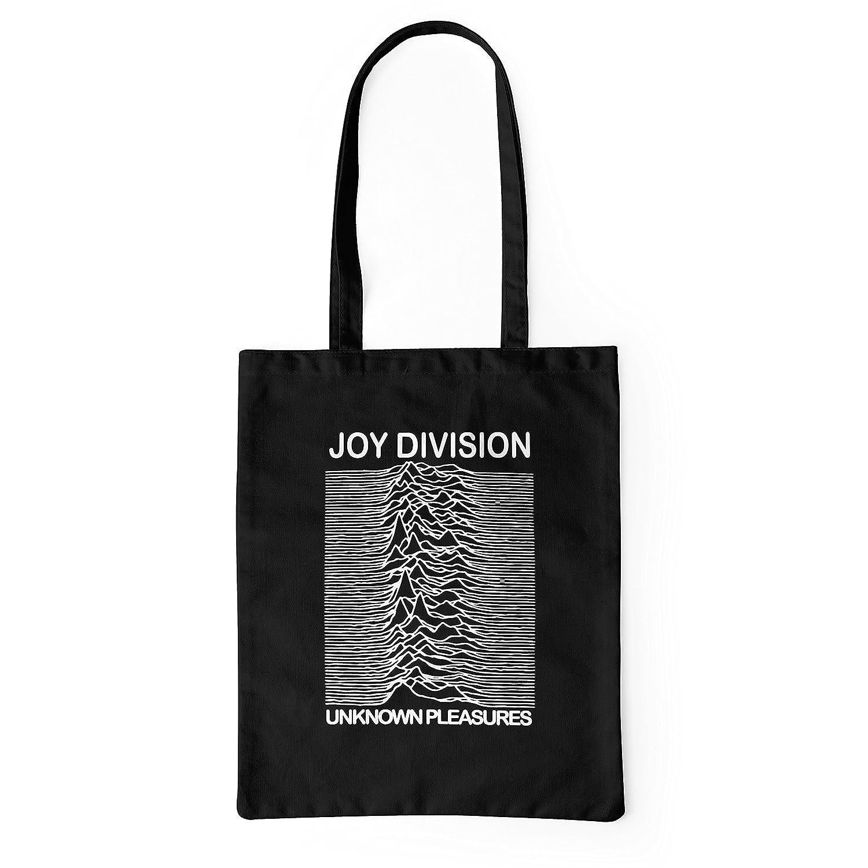 LaMAGLIERIA Tote Bag Joy Division - Cabas shopping bag 100% coton, noir SBG10128