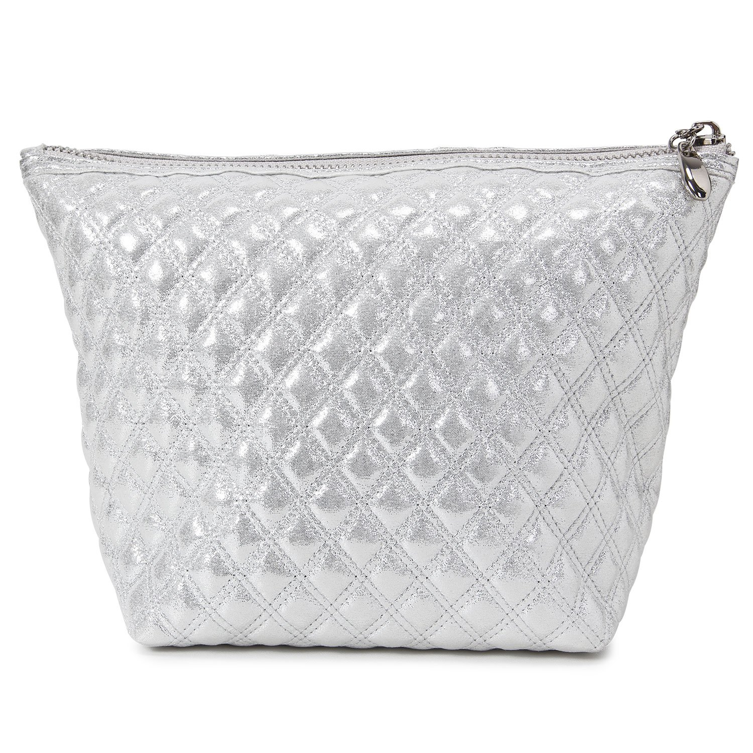 Lifewit Cosmetic Bag Makeup Bag, Beauty Bag for Purse, Beauty Skincare Travel Makeup Pouch Kit for Travel Accessory, Glitter Silver