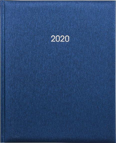 Buchkalender 21x26cm metallic-blau 2 Seiten f/ür 1 Woche Tango-Einband Marke Adina
