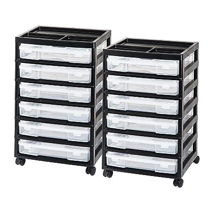 Amazon Iris Sbc 356e 6 Case Scrapbook Cart Black 2 Pack Home