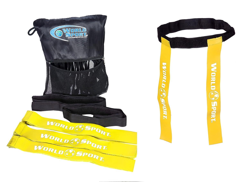 Mundo deporte Rugby etiqueta cinturones ★ Juego de 10Cinturones y 20etiquetas ★ ★ disponible en 4colores 2tamaños World Sport