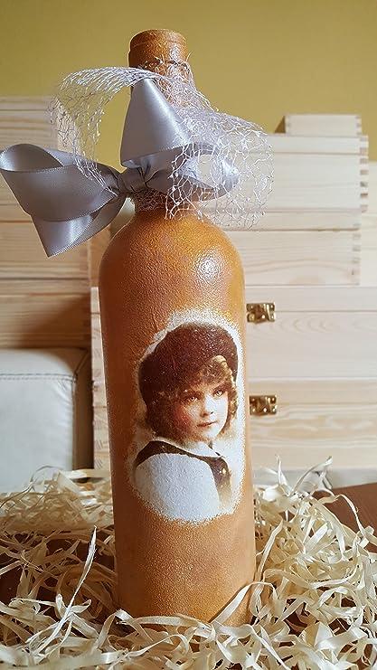 Decorativa botella de cristal francés Boy Vintage Retro ...