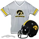 Franklin Sports NCAA Kids Football Helmet and Jersey Set - Youth Football Uniform Costume - Helmet, Jersey, Chinstrap