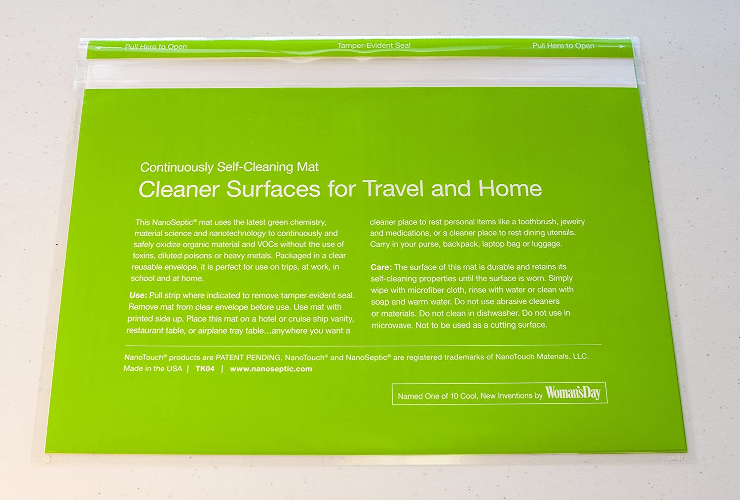 Amazoncom NanoSeptic Self Cleaning Reusable Place Mat Table - Restaurant table cleaner