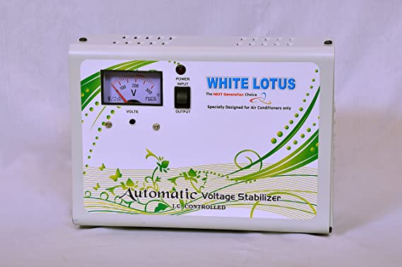 WHITE LOTUS 4KVA Single Stabilizer  White, 170 W