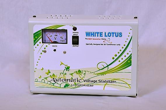 WHITE LOTUS 4KVA Single Stabilizer  White, 170 W  Kitchen Fixtures