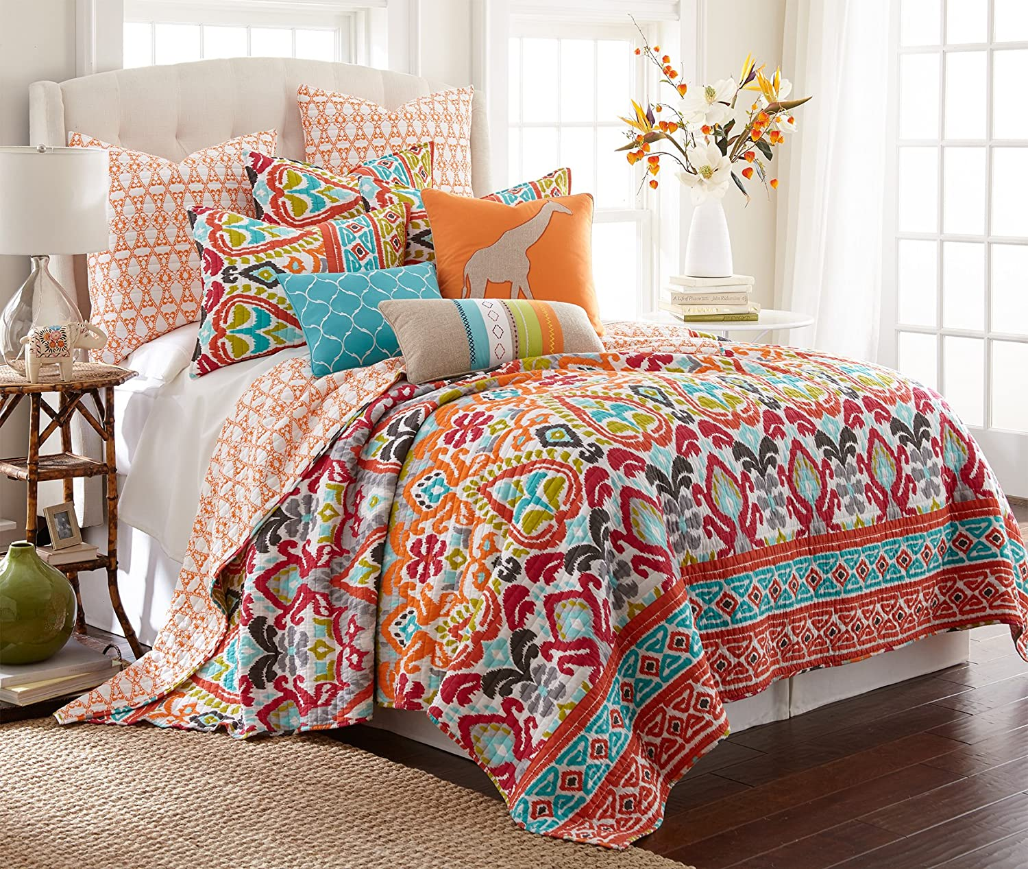 awesome Levtex Home Quilt Set Part - 2: Amazon.com