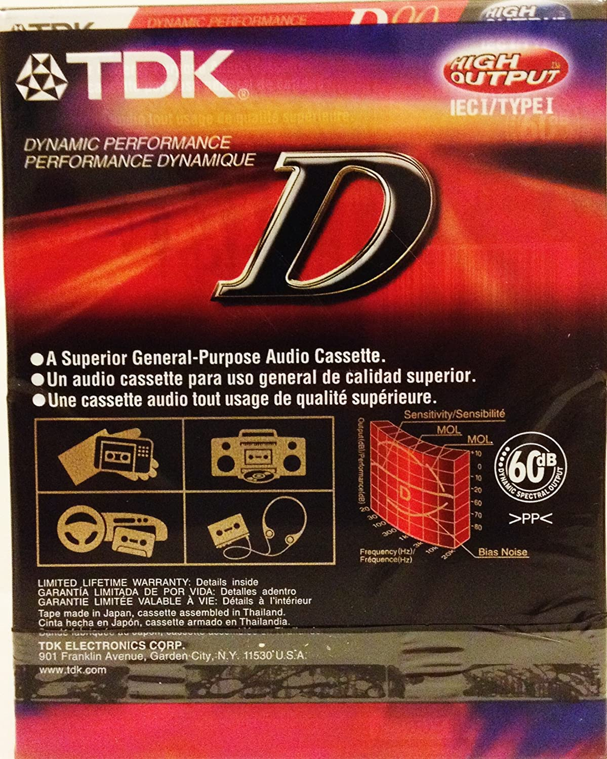 Amazon.com: TDK D90 High Output Dynamic Performance Audio Cassette (16 pack): Home Audio & Theater