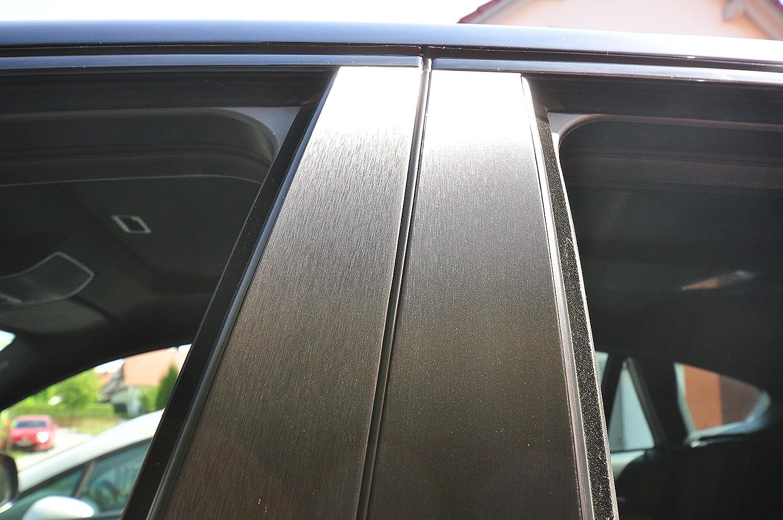 6x Carbon schwarz T/ürzierleisten Verkleidung B S/äule T/ürs/äule passend f/ür Ihr Fahrzeug geben Sie Ihrem Fahrzeug kosteng/ünstig ein sportlichen Touch