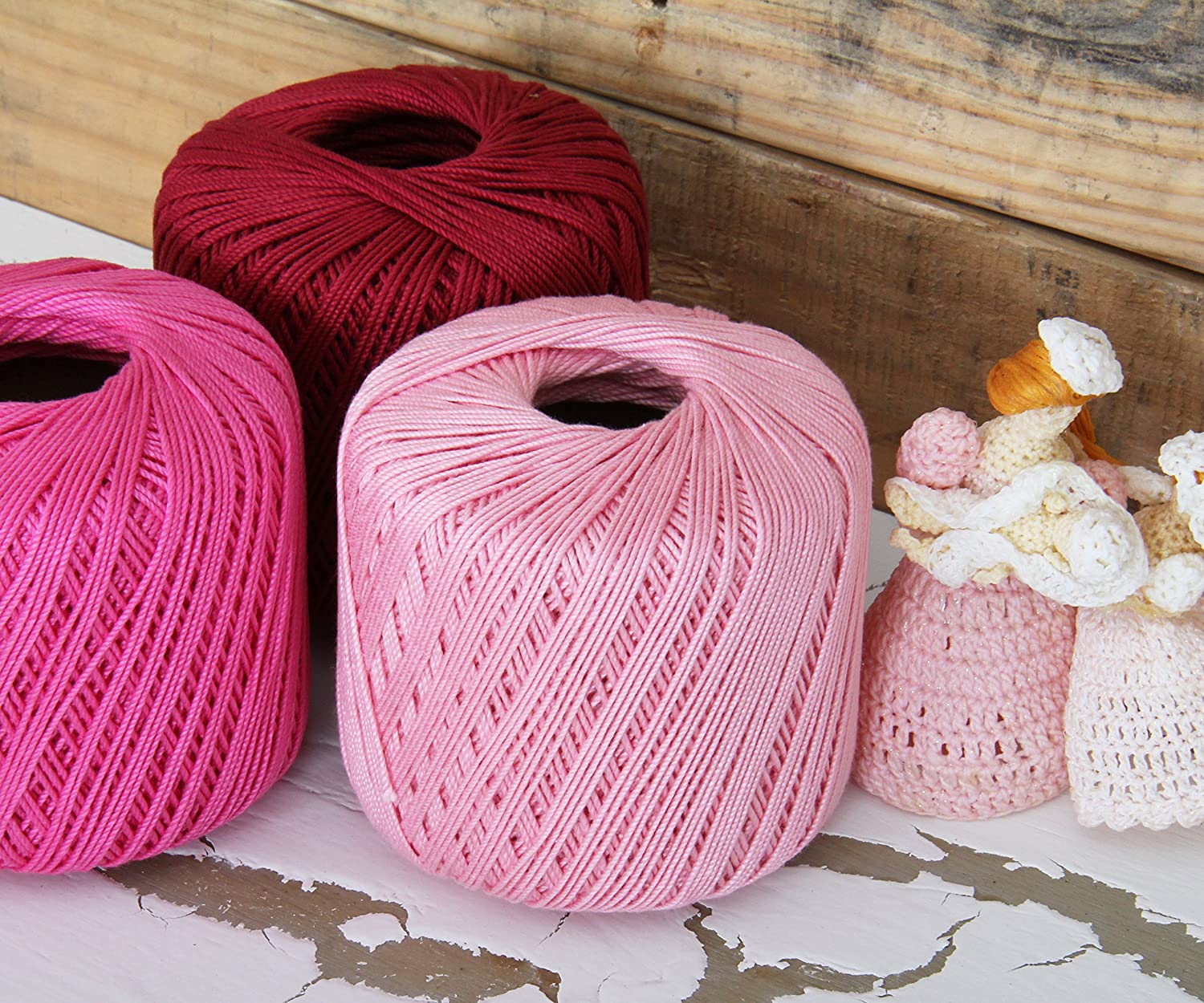Crochet Thread - SIZE 3 - Color 12 - RED - 2 Sizes - 27 Colors Available Threadart