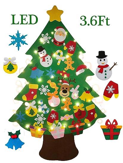 burst 36 ft felt wall hanging christmas trees set with 50 led lights christmas tree xmas