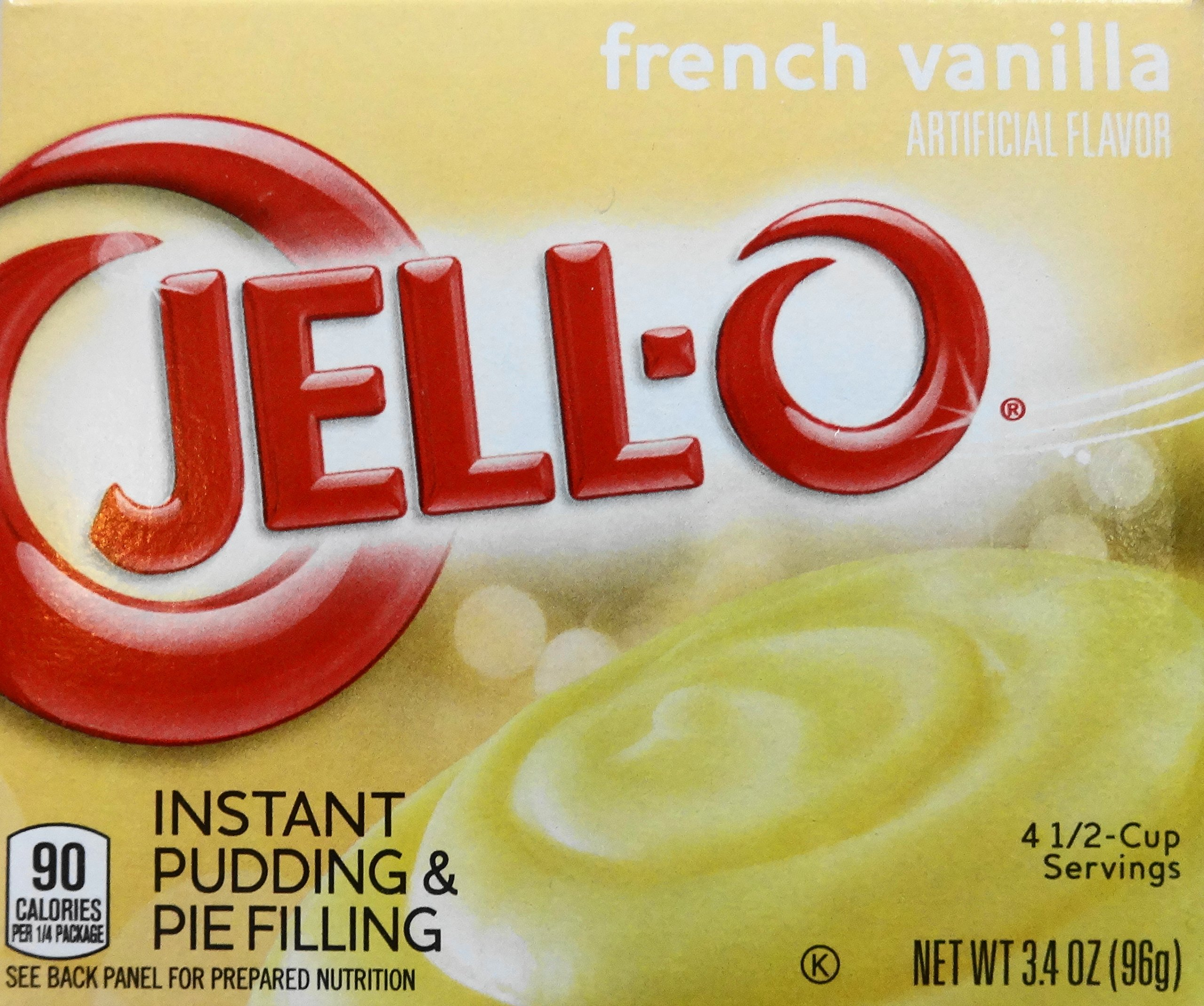 Jell-O French Vanilla Instant Pudding, 3.4 oz (3-Pack)