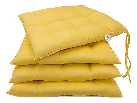 Zollner cuscini da sedia per dentro e fuori cm giallo