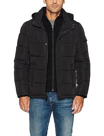 1462539cfb0 Calvin Klein Men s Alternative Down Puffer Jacket with Bib   Hood at ...