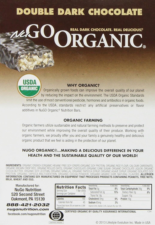 Amazon.com: NuGo Organic Nutrition Bar, Dark Double Chocolate ...