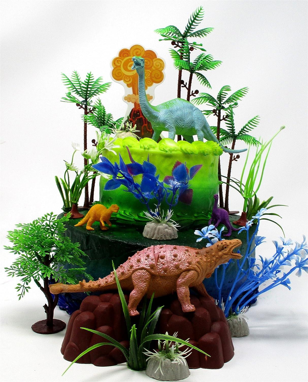 Astounding Amazon Com Cake Topper Prehistoric Deluxe Dinosaur 18 Piece Personalised Birthday Cards Paralily Jamesorg