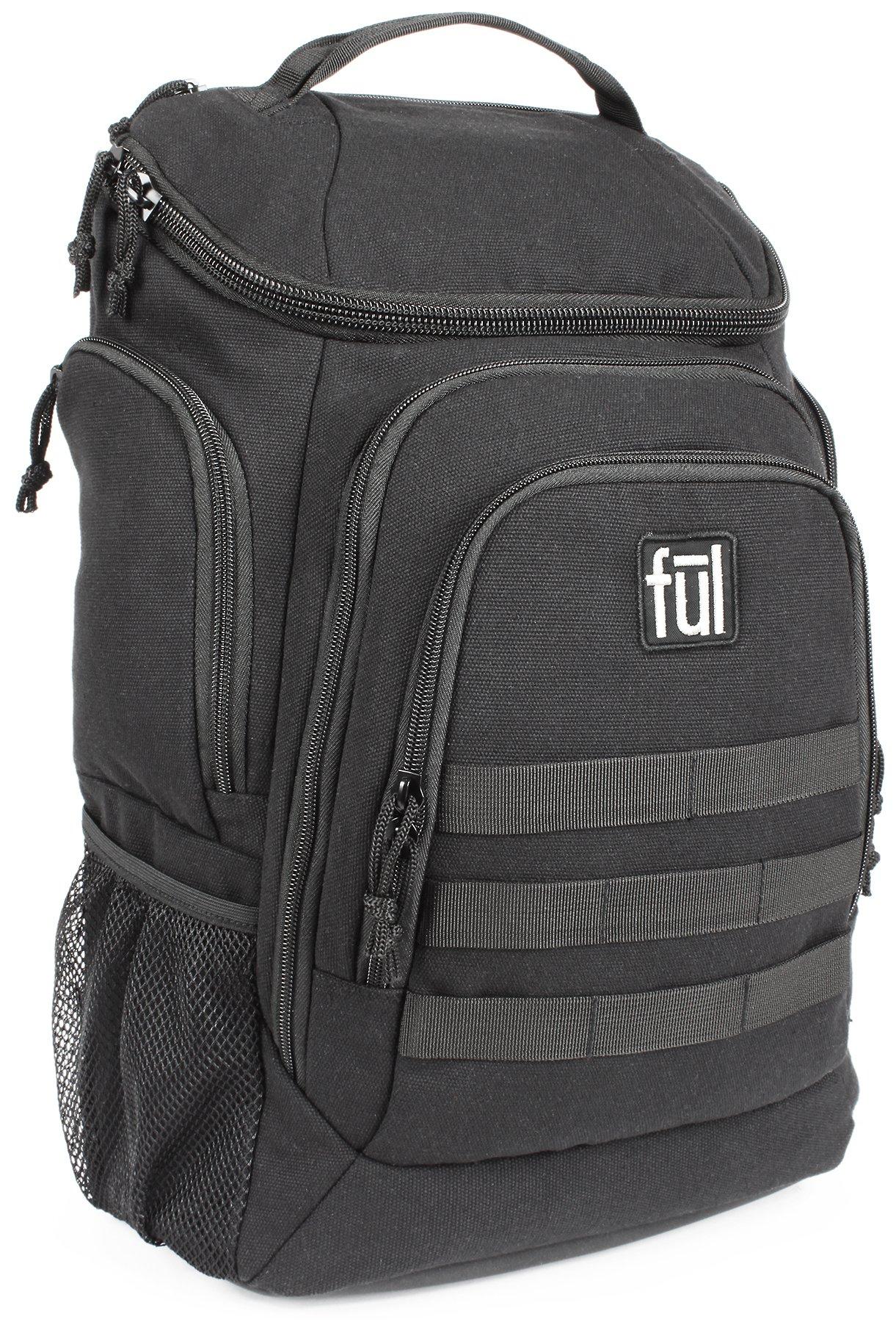 Ful Elite Tactical Laptop Backpack, Fits Laptops up to 17'', Black