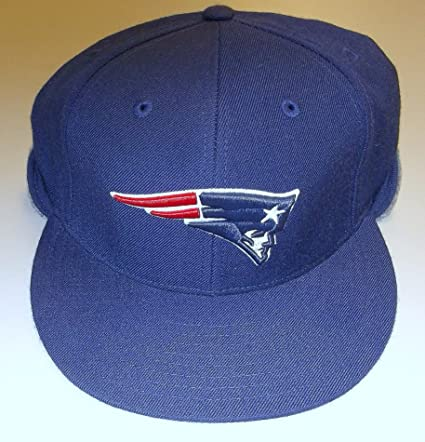 a7e1bb64 Amazon.com : New England Patriots Fitted Reebok Hat with Back Flap ...