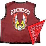 The Warriors Gang Member Emblem Adult Costume Leather Vest Jacket and Bandana